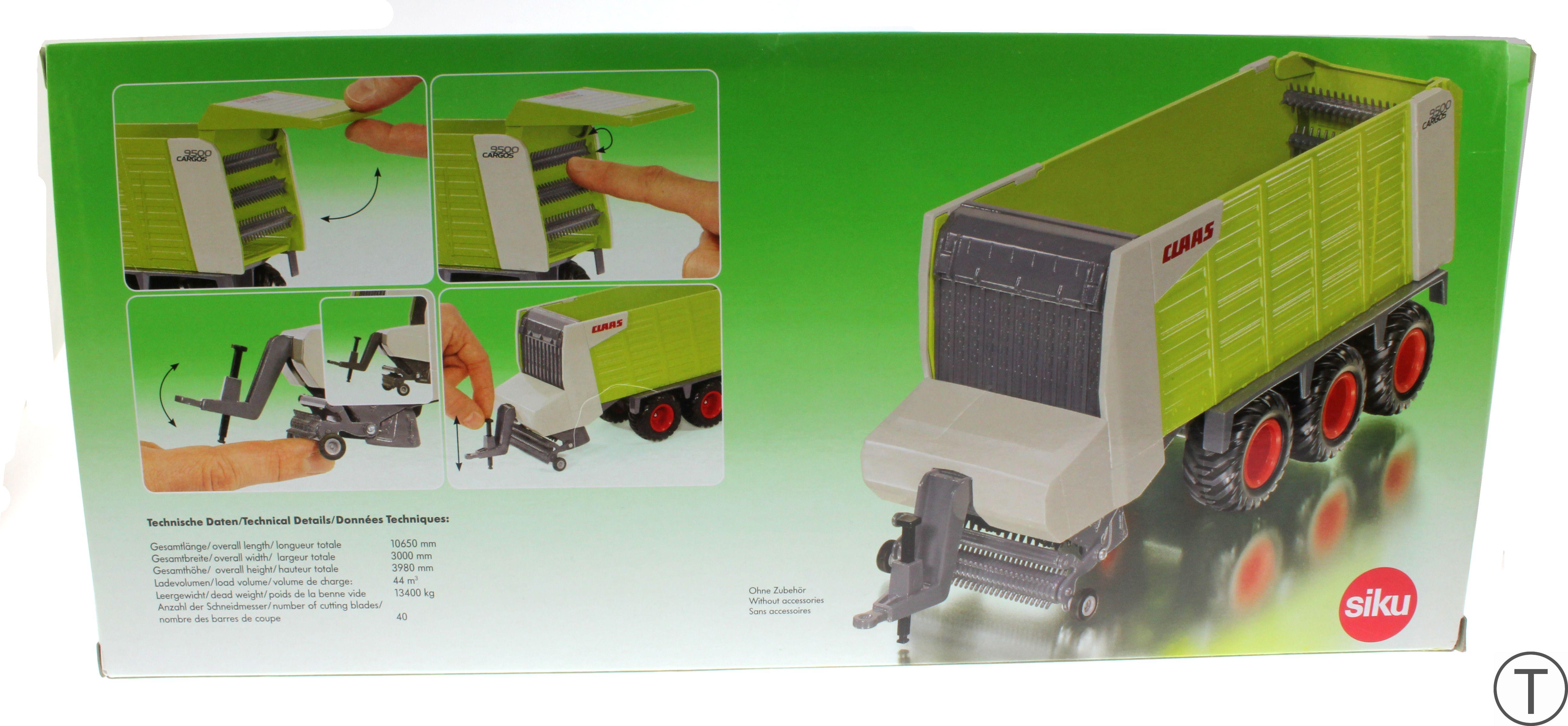 Siku 2893 - Claas Cargos 9500 Karton hinten