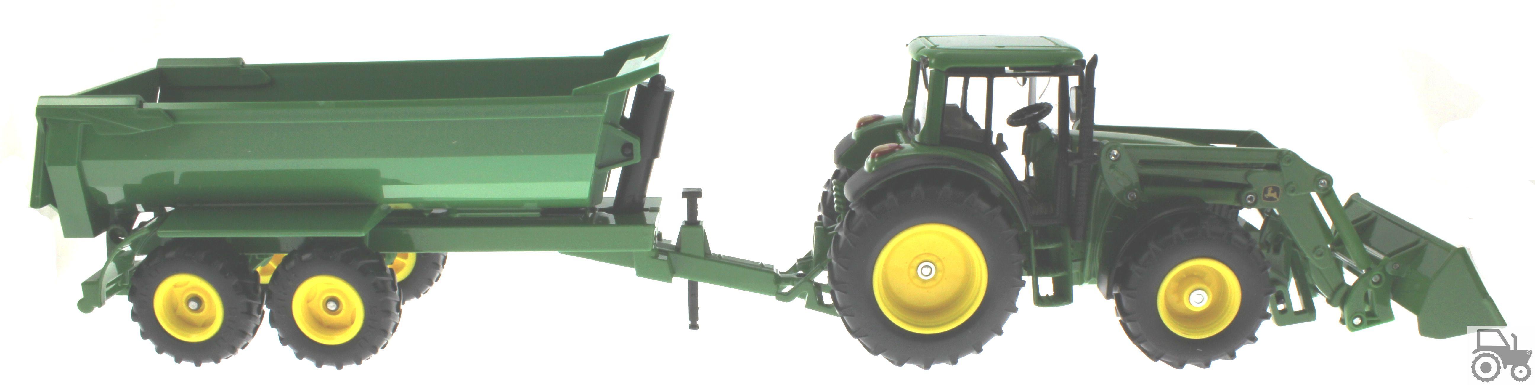 Siku 3863 - John Deere 6820 mit Frontlader und Krampe Muldenkipper