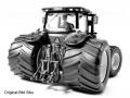 Agritechnica 2015 - Messemodell Siku-John-Deere-8360R-mit-Breitreifen hinten rechts