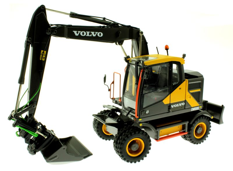AT Collections 3200101 - Volvo EWR 150E Mobilbagger mit Mitas Doppel-Bereifung vorne links