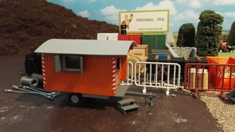Bauwagen auf der Baustelle - Maßstab 1:32 hinten