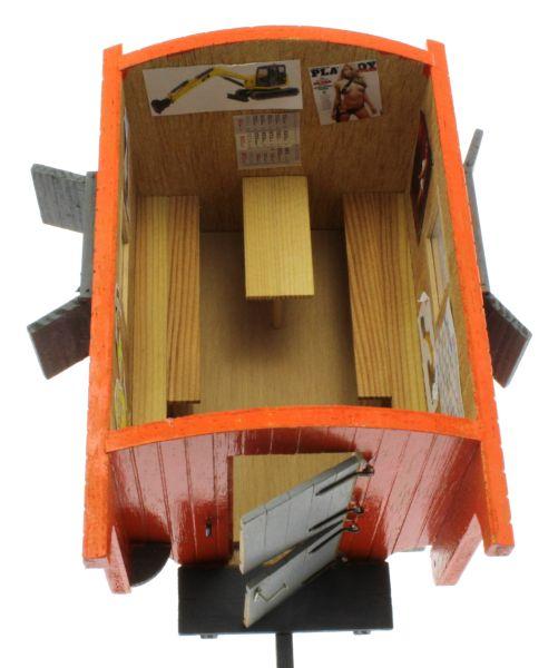 Bauwagen 1:32 Orange  oben vorne