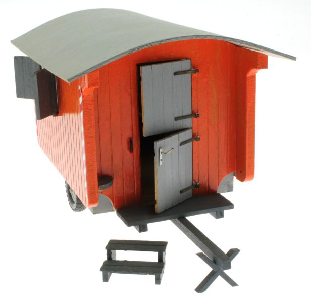 Bauwagen 1:32 Orange  vorne