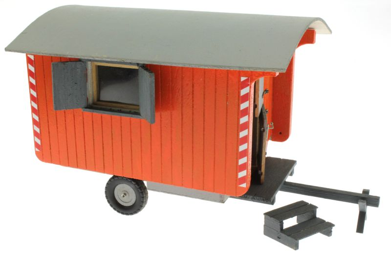 Bauwagen 1:32 Orange  vorne rechts
