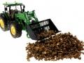 Brushwood TOYS BT2076 - Kartoffeln Siku Control 32 John Deere 7R mit Kartoffel-Schaufel