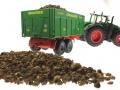 Brushwood TOYS BT2076 - Kartoffeln mit Siku Fendt 1050 und Brantner Stabilisator Anhänger hinten