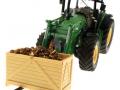 Brushwood TOYS BT2079 - Kartoffelkiste mit Kartoffeln und Siku Control 32 John Deere 7R mit langer Palettengabel