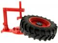 Brushwood Toys BT3043 - Farm Mechaniker und Zubehör Set - Auswuchtgerät mit Reifen