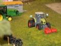 Farmworld Fehmarn - Claas Trecker auf Grasberg vorne