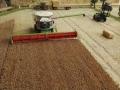 Farmworld Fehmarn Okt. 2015 - Claas Mähdrescher von der Seite