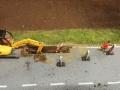 Farmworld Fehmarn Okt. 2015 - Straßenbauarbeiten