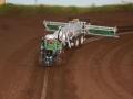 Farmworld Fehmarn Okt. 2015 - Fendt Traktor auf Schienen-System von oben