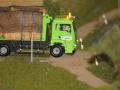 Farmworld Fehmarn Okt. 2015 - LKW mit Strohballen nah