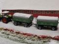 Farmworld Fehmarn Winter 2014 - Claas mit Brantner Anhänger