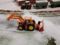 Farmworld Fehmarn Winter 2014 - John Deere mit Schneefäse