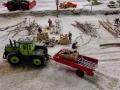 Farmworld Fehmarn Winter 2014 - MB Trac mit Einachs-Anhänger