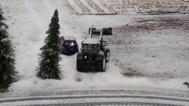 Farmworld Fehmarn Winter 2014 - Traktor mit Frontlader