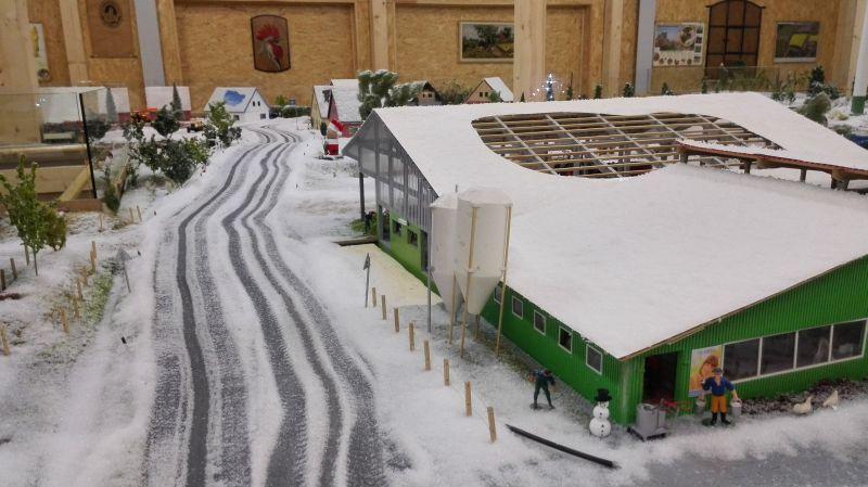 Farmworld Fehmarn Winter 2014 - Verschneite Straße