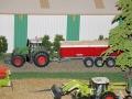 Fendt Traktor mit Dreiachs-Kipper