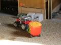 Massey Ferguson mit Mais Futterwagen
