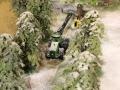 Siku John Deere Harvester im Schnee
