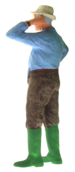 Figur 1:32 - Bauer mit dem Hemd aus der Hose hinten links