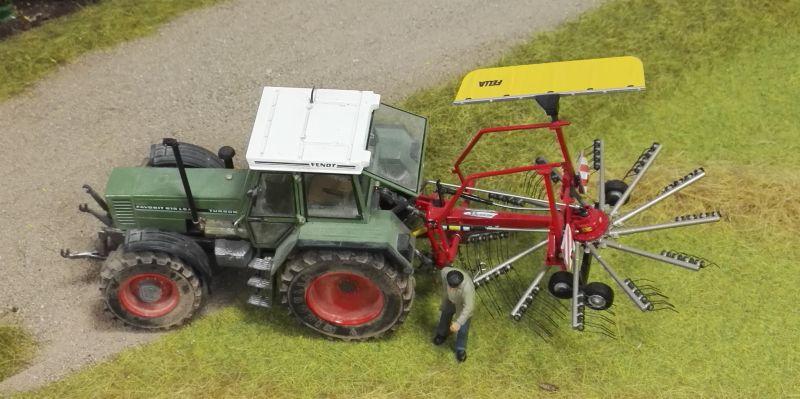 Farmworld Fehmarn Juni 2016 - Fendt Traktor mit Heuwender