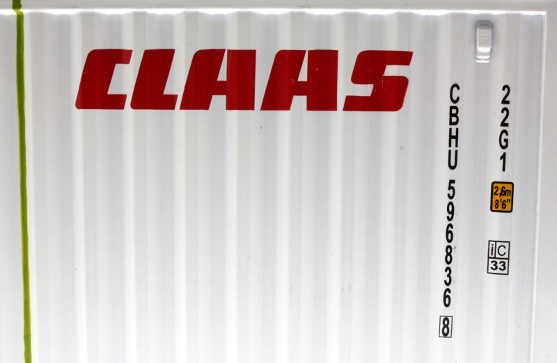 MarGe Models 1511 - Claas Sea Container 1:30 Logo