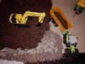 Siku Control - Claas Axion 850 und Komatsu Bagger von oben