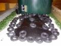 Silage abgedeckt mit Gummi-Reifen