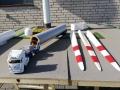 Drei Flügel Windkraftanlage draußen