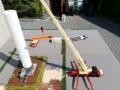 Aufbau Mast