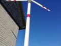 Windkraftanlage aufgebaut