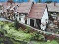 Modellbau SWH in Neumünster 2017 - Eisenbahn Landschaft Dorf mit Fachwerkhäusern