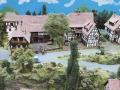 Modellbau SWH in Neumünster 2017 - Eisenbahn Landschaft Dorf fern