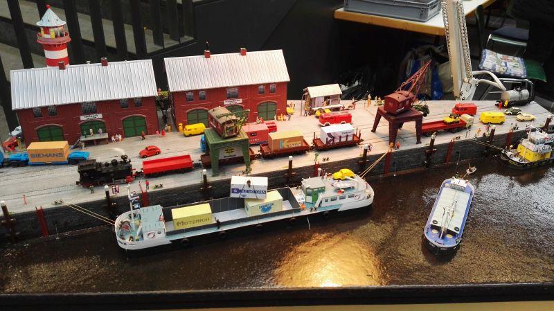 Modellbau Schleswig Holstein in Neumünster 2016 - Hafenanlage