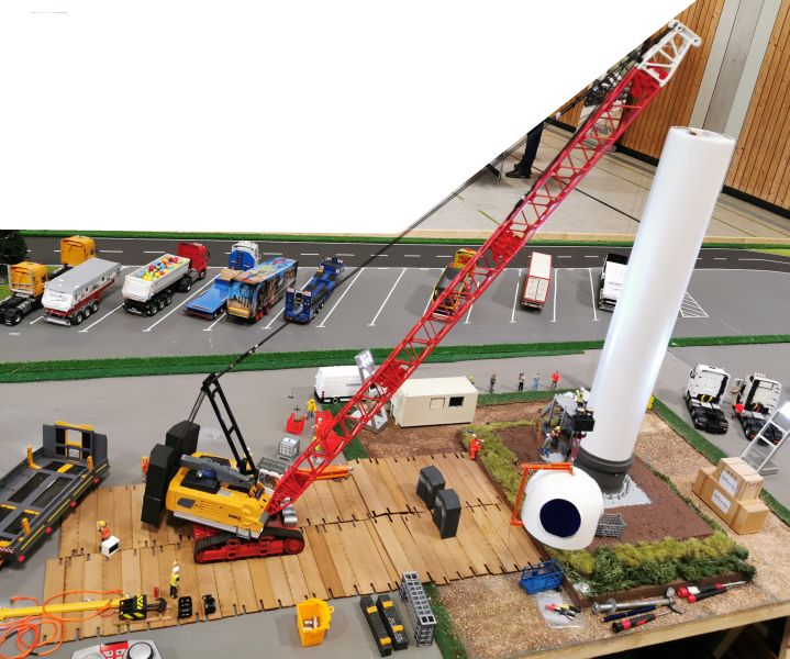 Modellbahn Ausstellung Bad Oldesloe Siku Control Windkraftanlage 2019 001