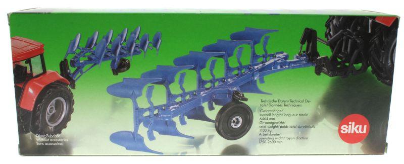 Siku 2051 - Volldrehpflug Lemken EurOpal 7x Blau Karton hinten