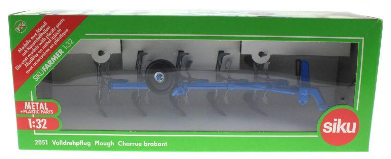 Siku 2051 - Volldrehpflug Lemken EurOpal 7x Blau Karton vorne