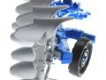 Siku 2051 - Volldrehpflug Lemken EurOpal 7x Blau hinten