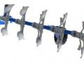 Siku 2051 - Volldrehpflug Lemken EurOpal 7x Blau hinten links