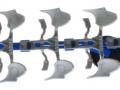 Siku 2051 - Volldrehpflug Lemken EurOpal 7x Blau links