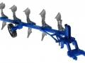 Siku 2051 - Volldrehpflug Lemken EurOpal 7x Blau vorne rechts