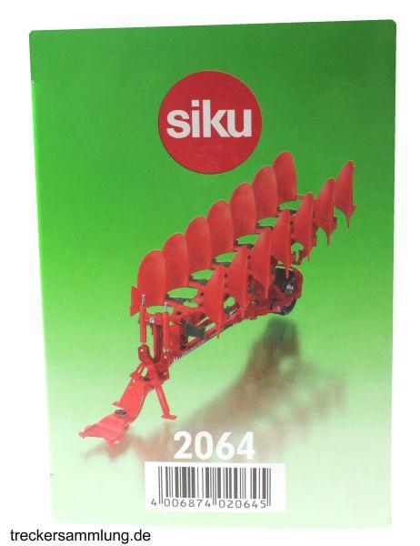 Siku 2064 - Vogel und Noot Aufsattel-Drehpflug Karton seite