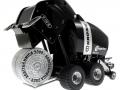 Siku 2460 Blackline - Rundballenpresse Comprima V150XC Sondermodell Agritechnica 2009 unten hinten