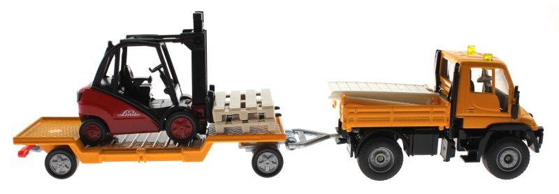 Siku 2522 - Unimog mit Gabelstapler Linde