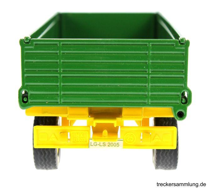 Siku 2551 - Zweiachs Anhäger grün hinten