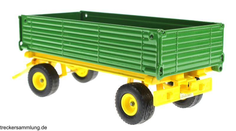 Siku 2551 - Zweiachs Anhäger grün hinten  links