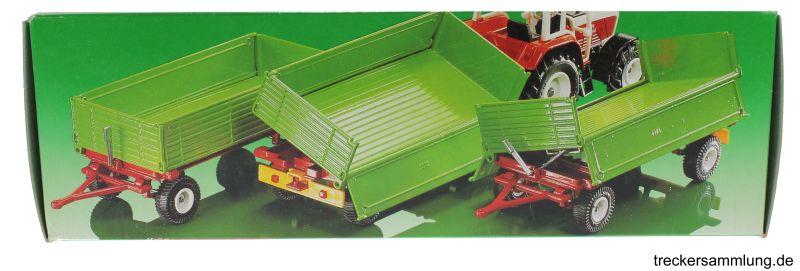 Siku 2551 - Zweiachs Anhäger grün Karton oben