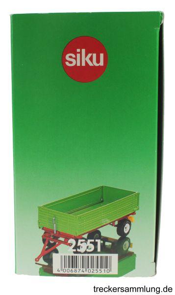 Siku 2551 - Zweiachs Anhäger grün Karton Seite
